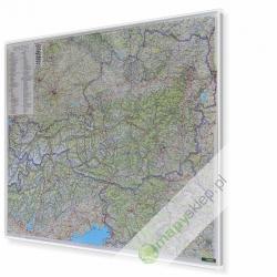 MAL Austria,Słowenia drogowa F&B Mapa w ramie ALU 120x95 cm