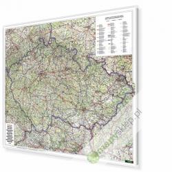 Czechy Drogowe 125x94 cm. Mapa w ramie aluminiowej.