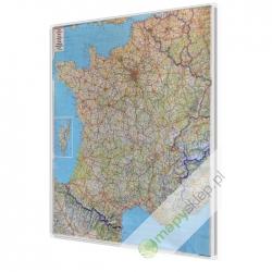 Francja Drogowa 106x96 cm. Mapa w ramie aluminiowej.