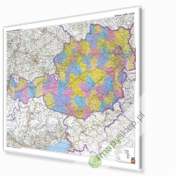 Austria Administracyjno-drogowa 120x90 cm. Mapa magnetyczna.
