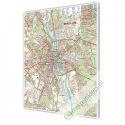 Warszawa 90x120 cm. Mapa magnetyczna.