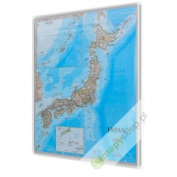 Japonia 1:3,1 mln NG Mapa magnetyczna 67x75cm