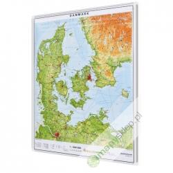 Dania fizyczna 76x84cm. Mapa magnetyczna.