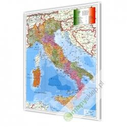 Włochy Administracyjno-Kodowa 100x119 cm. Mapa magnetyczna.