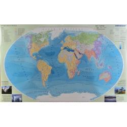 Hydrografia świata 160x120cm. Mapa ścienna.