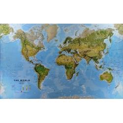 Świat fizyczny z elementami środowiska 200x124cm. Mapa ścienna.