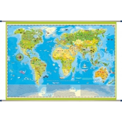 Świat Zwierząt dla dzieci ArtGlob Mapa ścienna 140x100cm