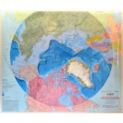 Arktyka. Koło Podbiegunowe 109x92cm. Mapa ścienna.