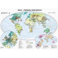 Świat przemysł przetwórczy 160x120cm. Mapa ścienna.
