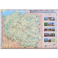 Polska Niezwykła dla dzieci 144x98cm. Mapa ścienna.