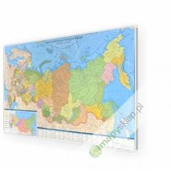 Rosja / Federacja Rosyjska 124x76 cm. Mapa w ramie aluminiowej.