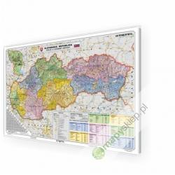 Słowacja administracyjno-drogowa 137x95 cm. Mapa w ramie auminiowej.