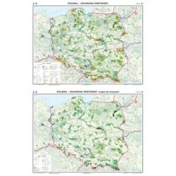 Polska ochrona przyrody/ćwiczeniowa 160x120cm. Mapa ścienna dwustronna.