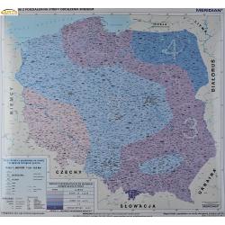 Polska z podziałem na strefy obciąz śniegiem 120x110cm Meridian