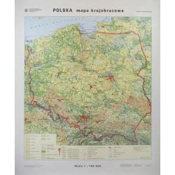 Polska krajobrazowa/konturowa 120x140cm. Mapa ścienna dwustronna.