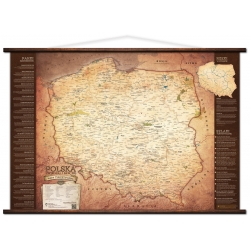 Polska turystyczna 106x70cm. Mapa ścienna.
