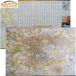 Kraków 98x68cm. Mapa ścienna dwustronna.