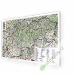 Słowacja Drogowa 120x65 cm. Mapa w ramie w aluminiowej.