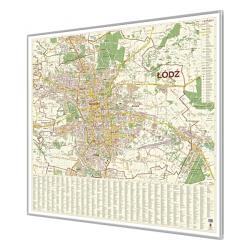Łódź 127x129 cm. Mapa magnetyczna.