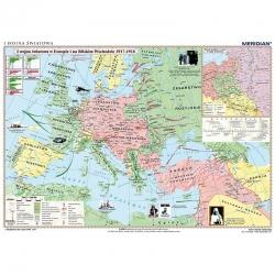 I Wojna Światowa w Europie i na Bliskim Wschodzie 1917-1918, 160x120cm. Mapa ścienna.