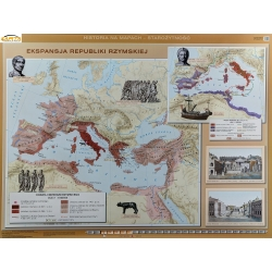 Ekspanasja Republiki Rzymskiej/Rozwój i Upadek Cesarstwa Rzymskiego 160x120cm. Mapa ścienna dwustronna.