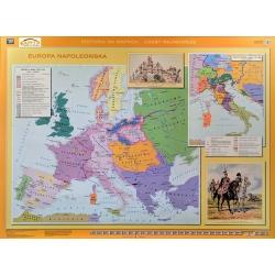 Europa Napoleońska/Po Kongresie Wiedeńskim 160x120cm. Mapa ścienna dwustronna.