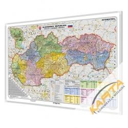 Słowacja Administracyjno-drogowa 140x100 cm. Mapa do wpinania.