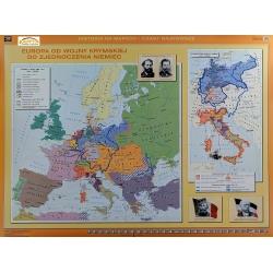 Europa od Wojny Krymskiej do Zjednoczenia Niemiec/Przed wybuchem I wojny światowej 160x120cm. Mapa ścienna dwustronna.