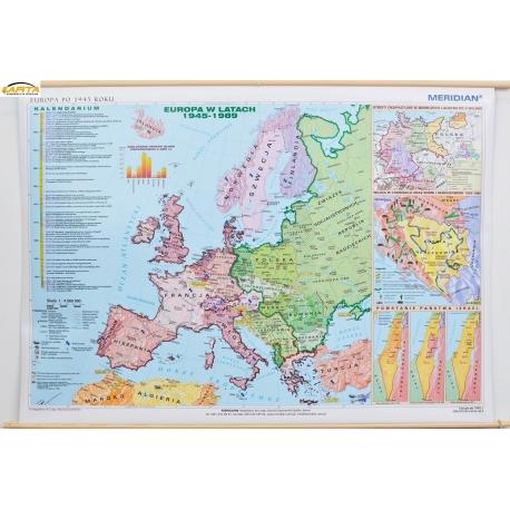 Mapa Scienna Europa Po 1945roku 1 4 Mln 166x112cm Meridian