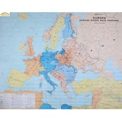 Europa podczas II Wojny Światowej 198x154 cm. Mapa ścienna.