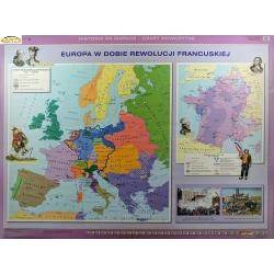 Europa w dobie Rewolucji Francuskiej/Europa w epoce absolutyzmu oświeconego 160x120cm. Mapa ścienna dwustronna.