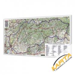 Słowacja Drogowa 125x65 cm. Mapa do wpinania