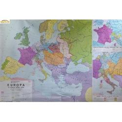 Europa w latach 1789-1814, 178x120cm. Mapa ścienna.