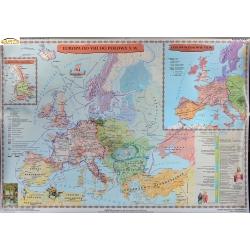Europa wczesnośredniowieczna (od VIII do połowy X wieku) 150x110 cm. Mapa ścienna.
