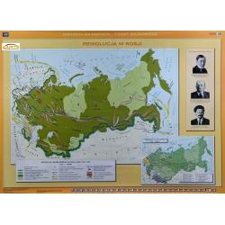 I Wojna Światowa w Europie/ Rewolucja w Rosji 160x120cm. Mapa ścienna dwustronna.