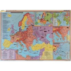 II Wojna Światowa 1939-41/1942-45, 160x120cm. Mapa ścienna dwustronna.