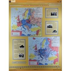II Wojna Światowa w Europie/Polska podczas II wojny światowej 120x160cm. Mapa ścienna dwustronna.