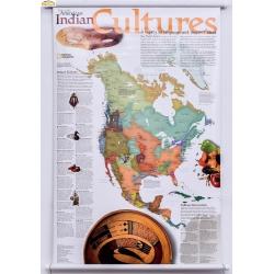 Indianie-Kultura/Ameryka Północna 64x92cm. Mapa ścienna.