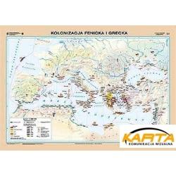 Kolonizacja fenicka i grecka/Grecja w okresie kolonizacji 160x120cm. Mapa ścienna dwustronna.