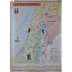 Palestyna za czasów Chrystusa 122x156cm. Mapa ścienna.