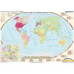 Pielgrzymki Jana Pawła II/Życie i dzieło Jana Pawła II 160x120cm. Mapa ścienna dwustronna.