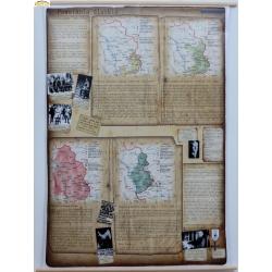 Powstania Śląskie 122x155cm. Mapa ścienna.