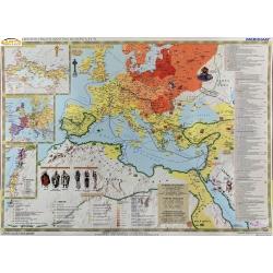 Powstanie i rozwój chrześcijaństwa 150x110cm. Mapa ścienna.