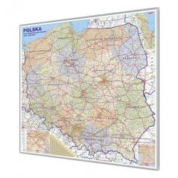Polska Adm-drog. 110x100cm. Mapa w ramie ALU