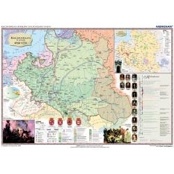 Rzeczpospolita Polska w XVII i XVIII w./Europa do połowy XVIII wieku 160x120cm. Mapa ścienna dwustronna.