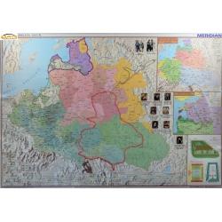 Rzeczpospolita po Unii Lubelskiej /Europa XVI w.160x120cm. Mapa ścienna dwustronna.