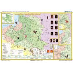 Rzeczpospolita Polska w okresie rozbiorów (1772-1795), 160x120cm. Mapa ścienna.