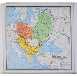 Słowianie w IX wieku/Europa Środkowa 126x118cm. Mapa ścienna.