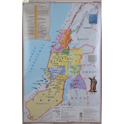 Starożytny Izrael od X do VI wieku p.n.e (Stary Testament) 110x150cm. Mapa ścienna.