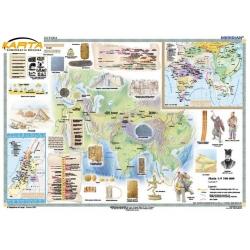 Starożytny Wschód-cywilizacje wielkich rzek i ich kultury 150x110cm. Mapa ścienna.